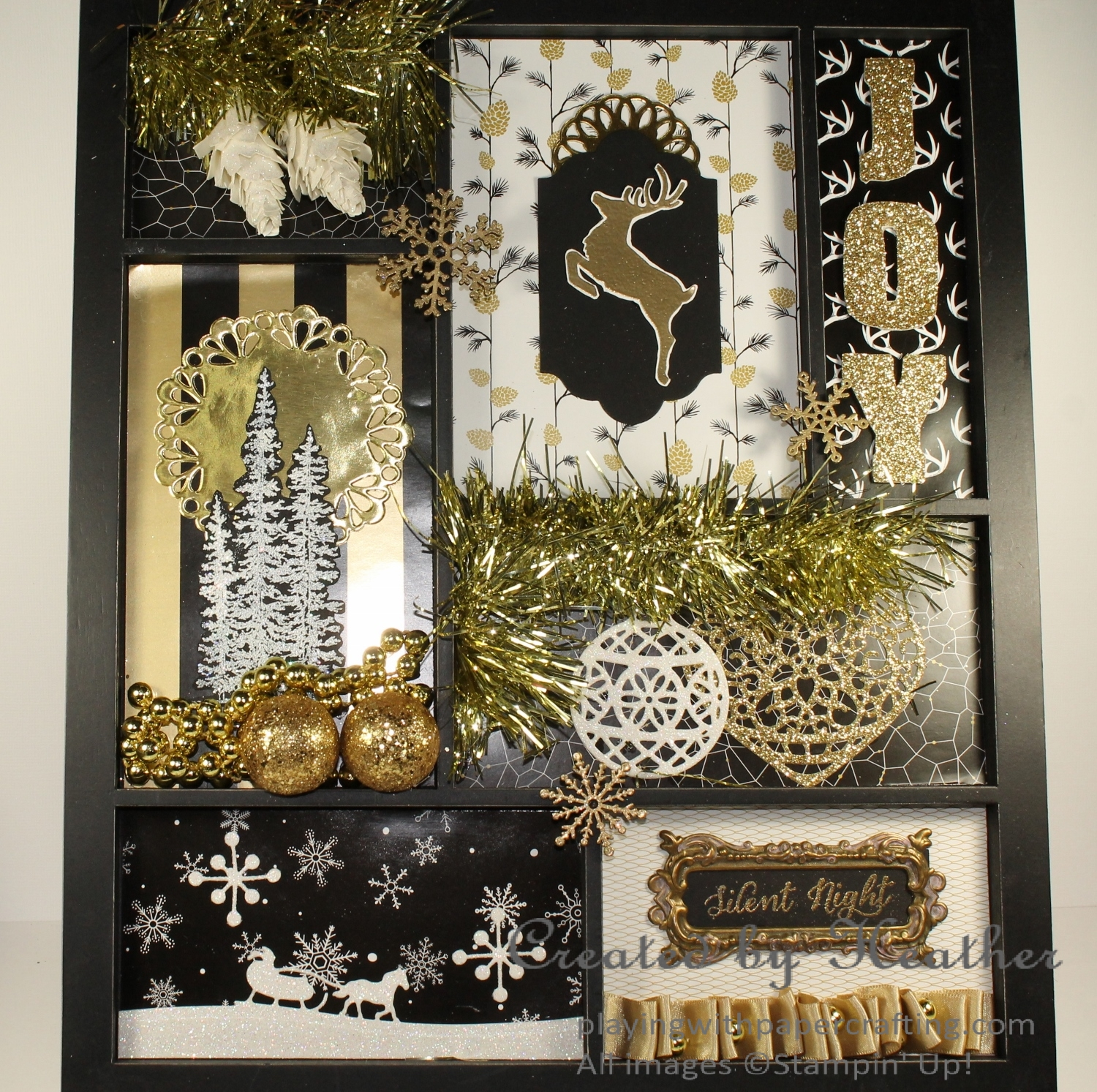 Playing with Papercrafting: Winter Wonderland Printer's Tray