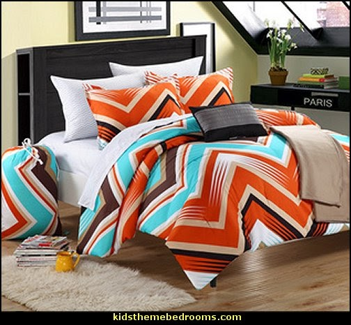 Ziggy Zag Peach Dorm Room Bedding Set
