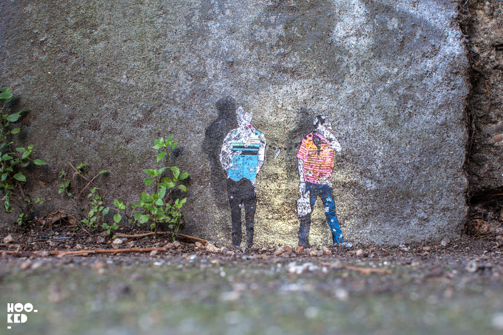 Miniature Street Art in London, by Mexican street artist Pablo Delgado. Photo ©Mark Rigney / Hookedblog