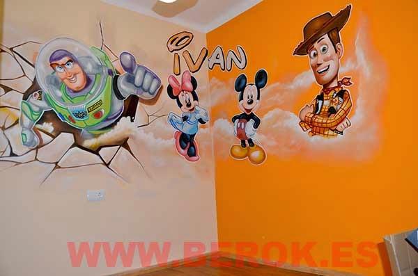 Juegos De Buzz Lightyear Para Pintar: Berok Graffiti Mural Profesional En Barcelona: Murales