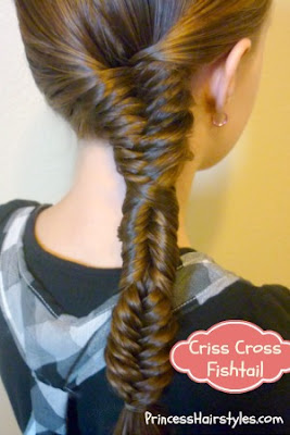 criss criss fishbone braid tutorial