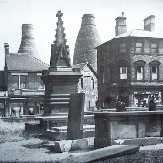 Longton Towards Garfield Works from St James Churchyard, Uttoxeter Road Photo: Source unknown   Date: unknown