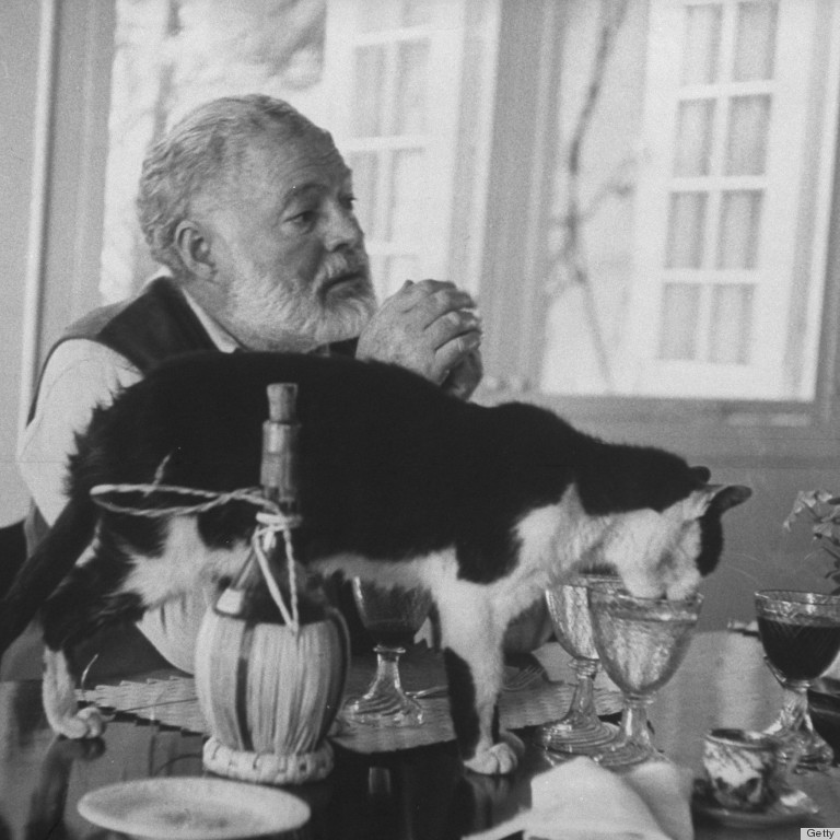 Mystery Fanfare Authors And Their Cats Ernest Hemingway