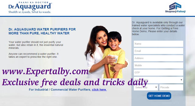Free water purifier steps needed proof added to get free
