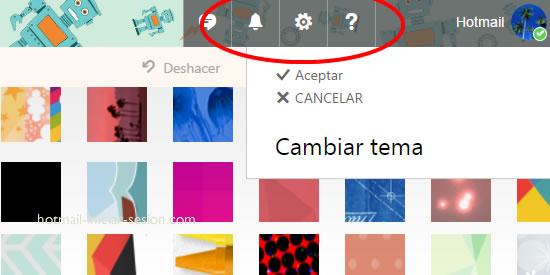 diseños y colores dentro de hotmail iniciar sesion