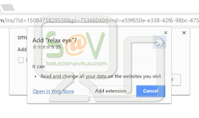Relax Eye (Falsa extensión de Chrome)