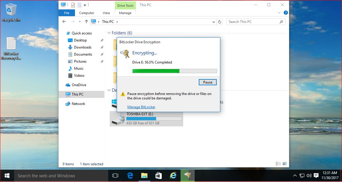 How to Set Up BitLocker® Drive Encryption in Windows 10