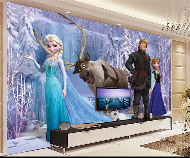 Disney wall mural Frozen kids girl room mural photo wallpaper 3d