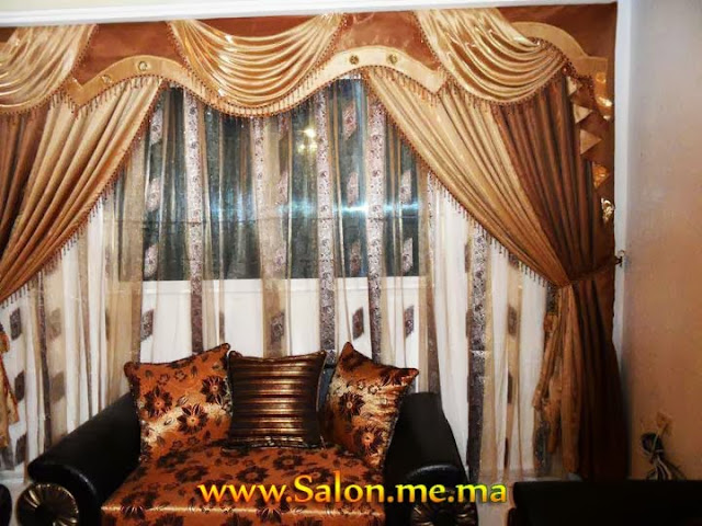 rideaux occultants marron de tendance d coration salon. Black Bedroom Furniture Sets. Home Design Ideas