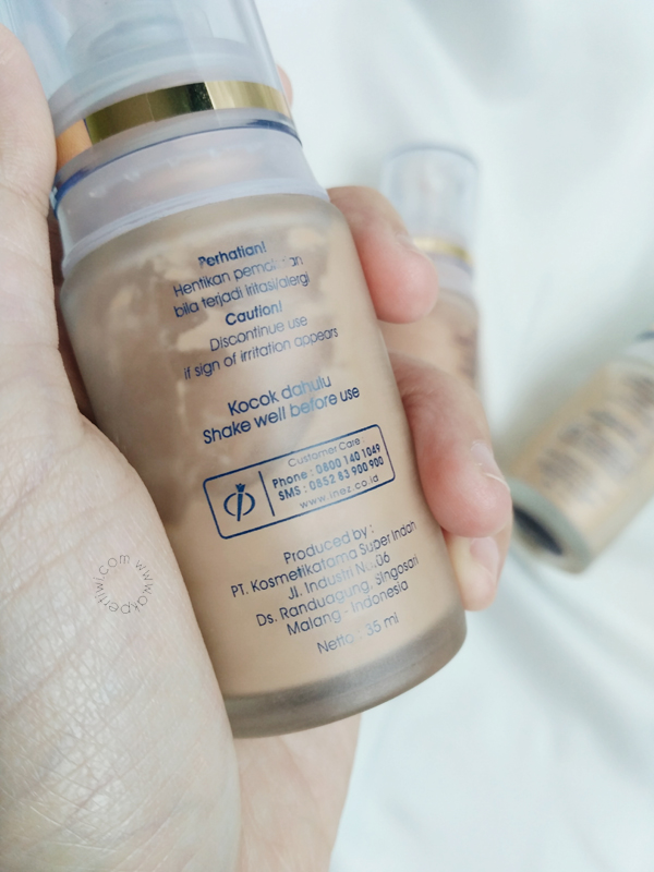 review inez lustrous liquid foundation