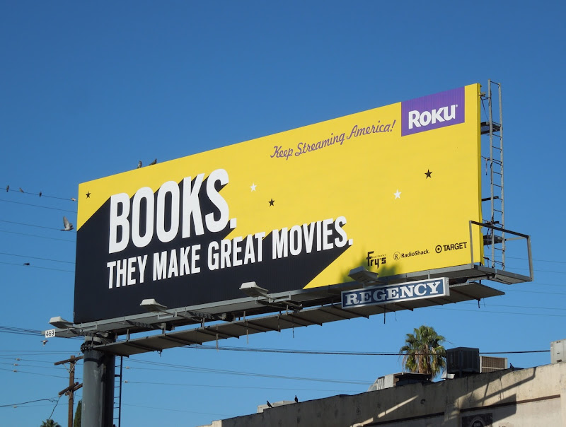 Books movies Roku billboard