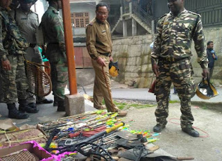 Police recovered hundreds of local weapons from Bimal Gurung premises