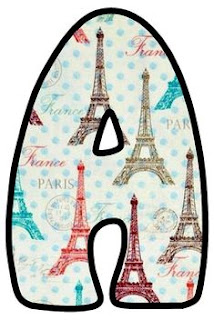 Abecedario con Torre Eifel de Colores. Alphabet with the Eifel Tower in Colors.