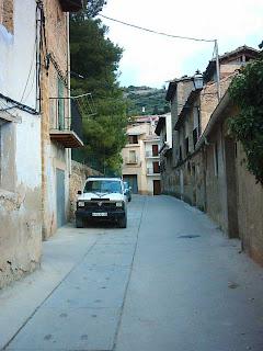 Beceite, Beseit, pueblo, casco urbano, planet, calle Diputación