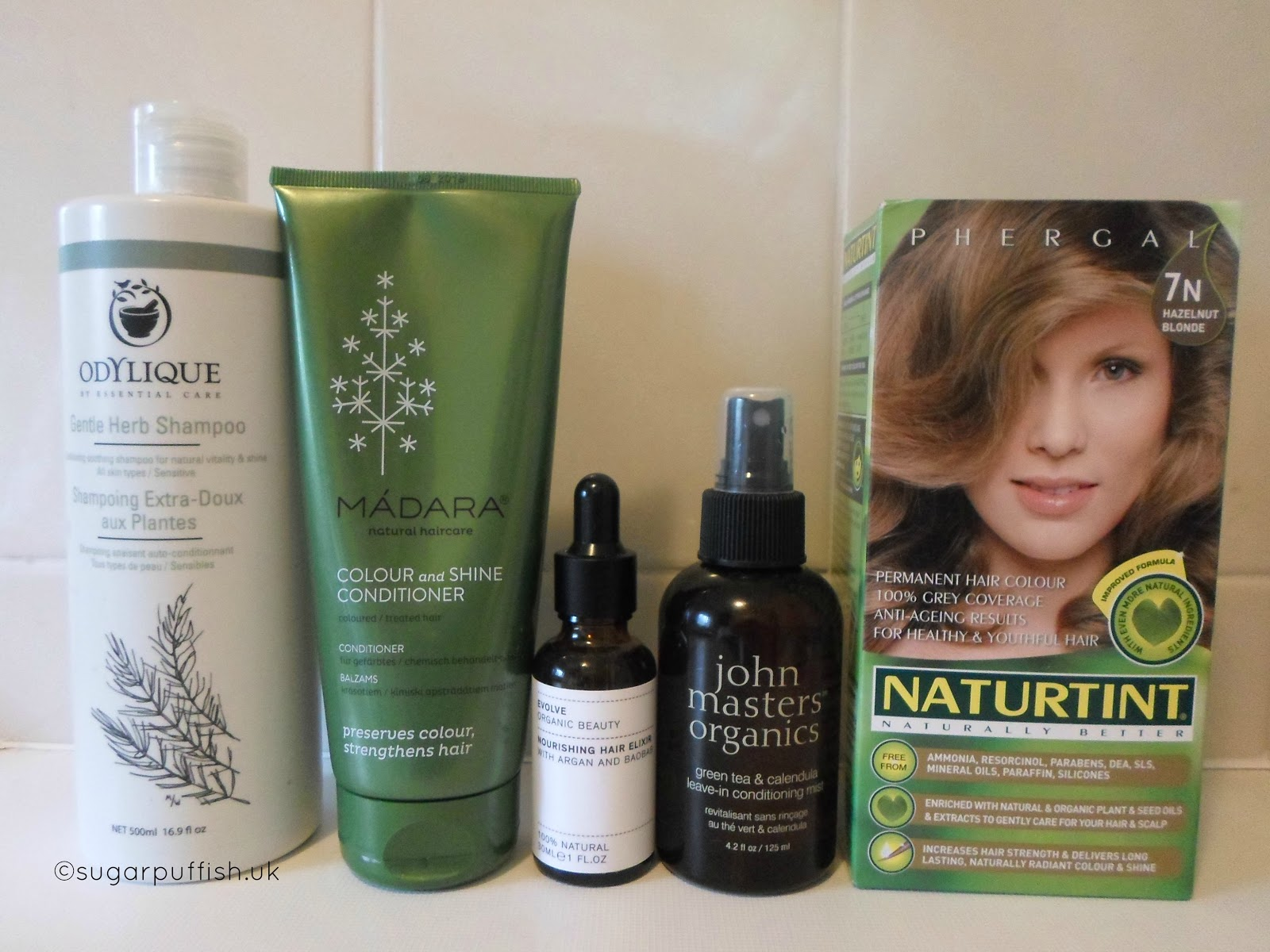 Natural and Organic Haircare Routine 2017 featuring Madara, Odylique, Evolve Organic Beauty, John Masters