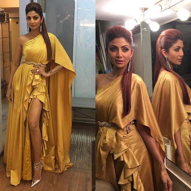 Image result for shilpa shetty at filmfare awards 2017