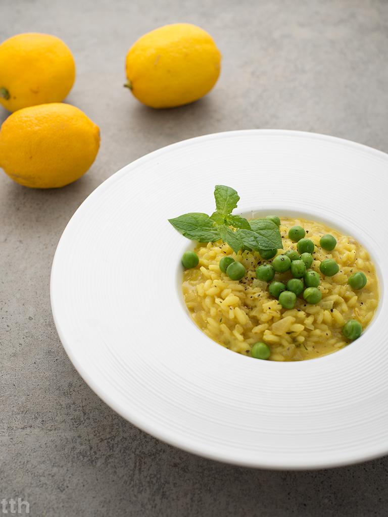 risotto wegańskie przepis zielony groszek