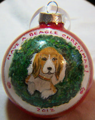 Beagle in WreathOrnament