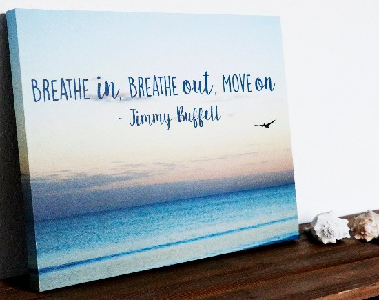 Jimmy Buffet Quote Canvas Art
