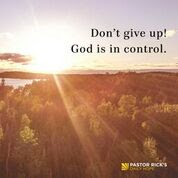 When You Hit a Detour, Don't Give Up! by Rick Warren
