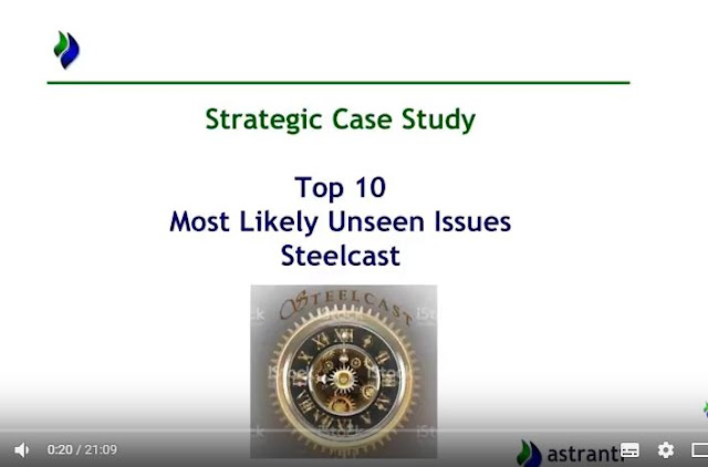 Top 10 issues video  - CIMA SCS November 2017 - Most likely unseen issues - Steelcast