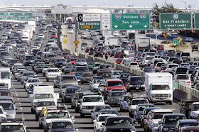 Heavy traffic in California