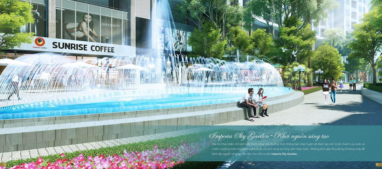 Khuôn viên chính dự án Imperia Sky Garden 423 Minh Khai