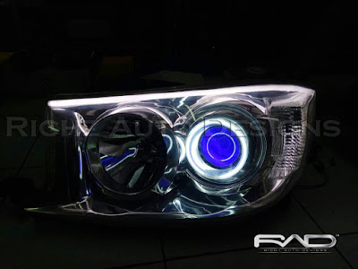custom headlamp mobil fortuner 2010