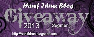 segment giveaway hanif idrus 2013