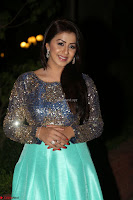 Nikki Galrani in Green Skirt  Top at Marakathamani music launch ~  Exclusive (56).JPG