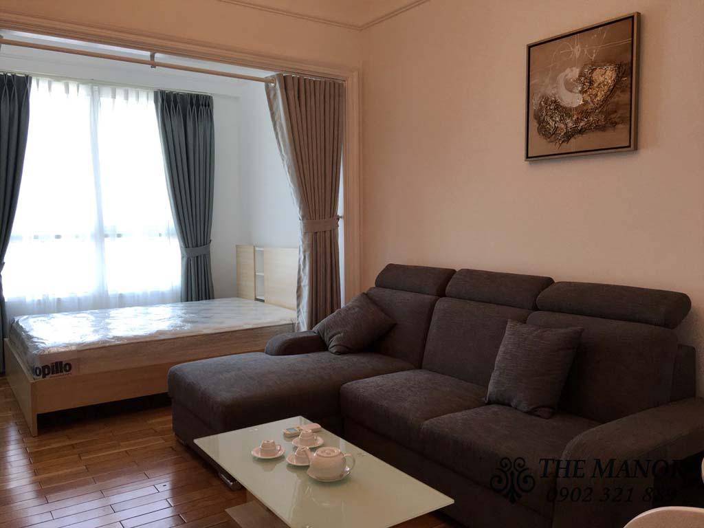 Manor Bình Thạnh cho thuê studio 36m2 giá rẻ - hình 2