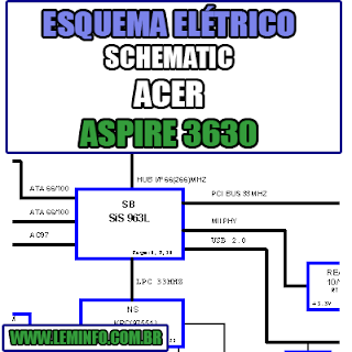 Esquema Elétrico Notebook Acer Aspire 3630 Laptop Manual de Serviço  Service Manual schematic Diagram Notebook Acer Aspire 3630 Laptop   Esquematico Notebook Placa Mãe Acer Aspire 3630 Laptop