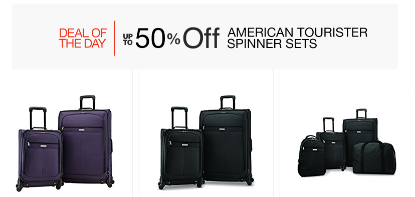 Up to 50% off American Tourister Luggage - prices start at only $70!