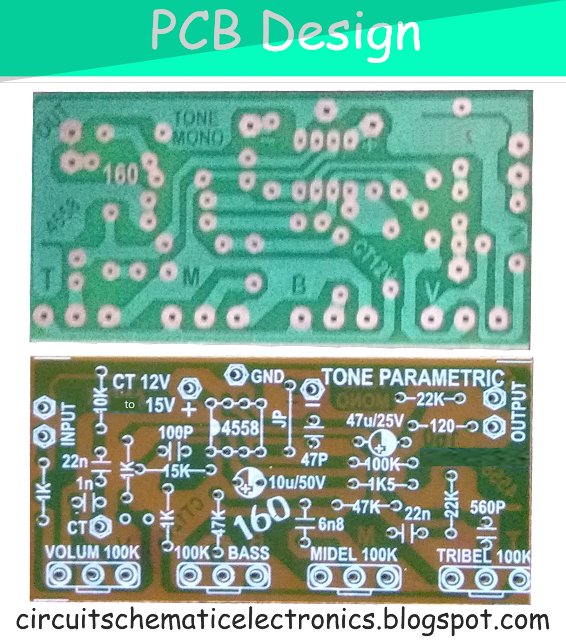 Parametric Tone Control IC4558 and PCB
