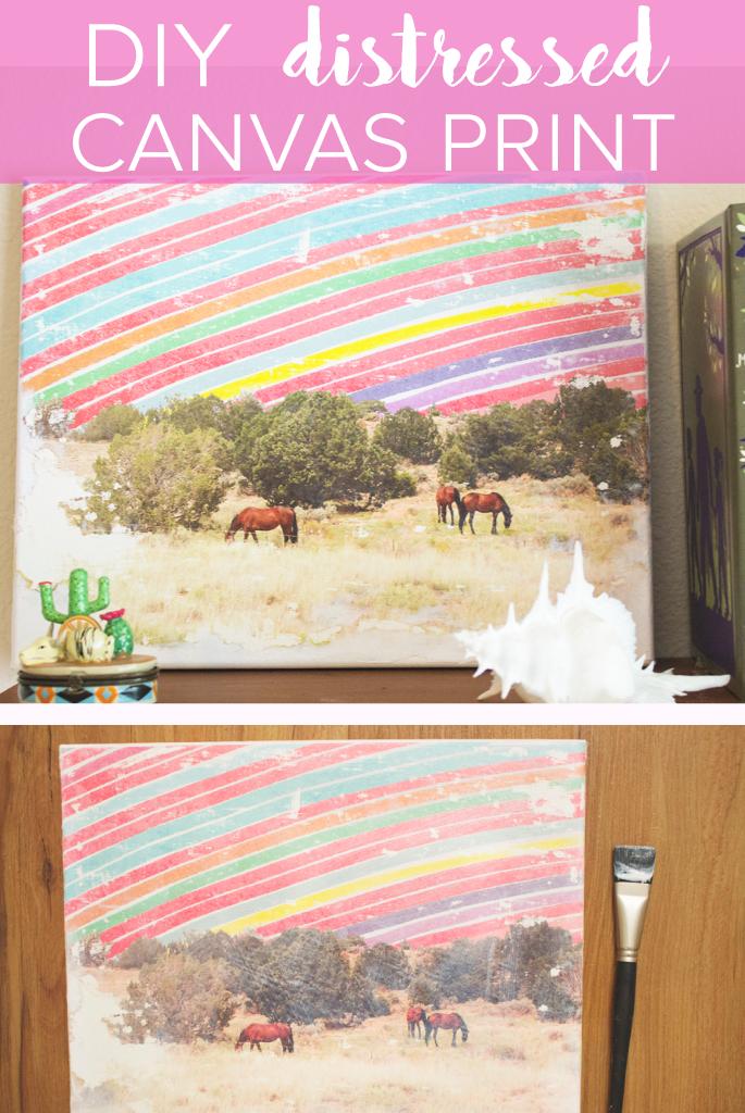 DIY | Distressed Canvas Print