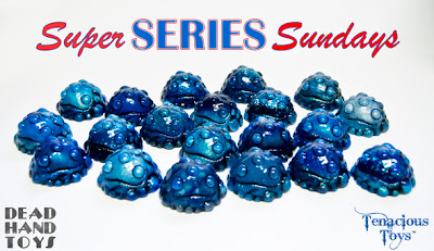 Tenacious Toys Super Series Sundays Exclusive Tri-Color Blue Gread Resin Figures by Dead Hand Toys