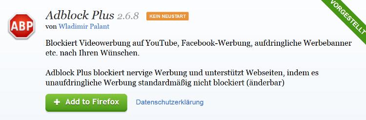 Adblock Plus ist einer der bekanntesten Adblocker.