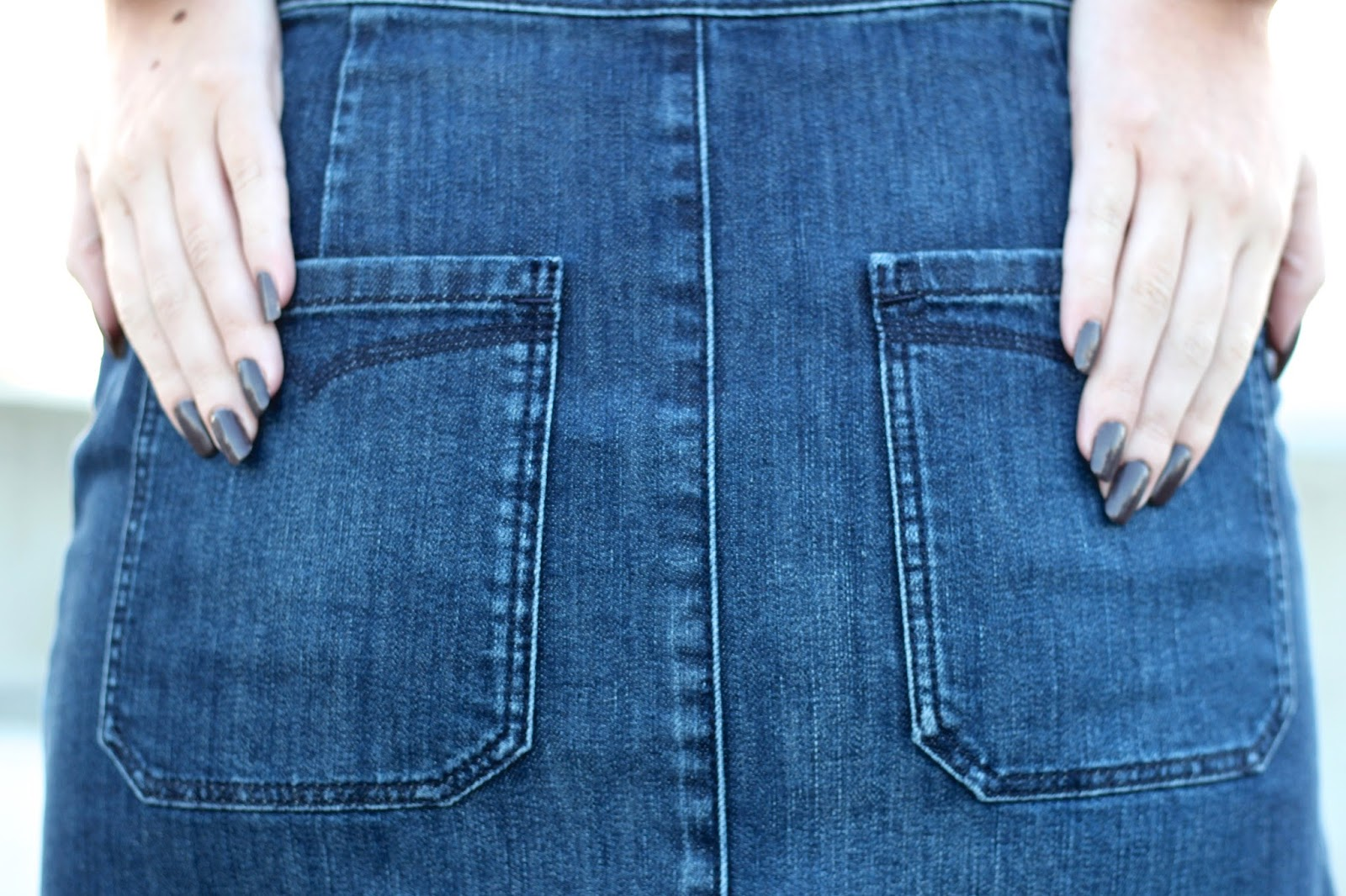 Styling a denim midi skirt by Jaeger in autumn