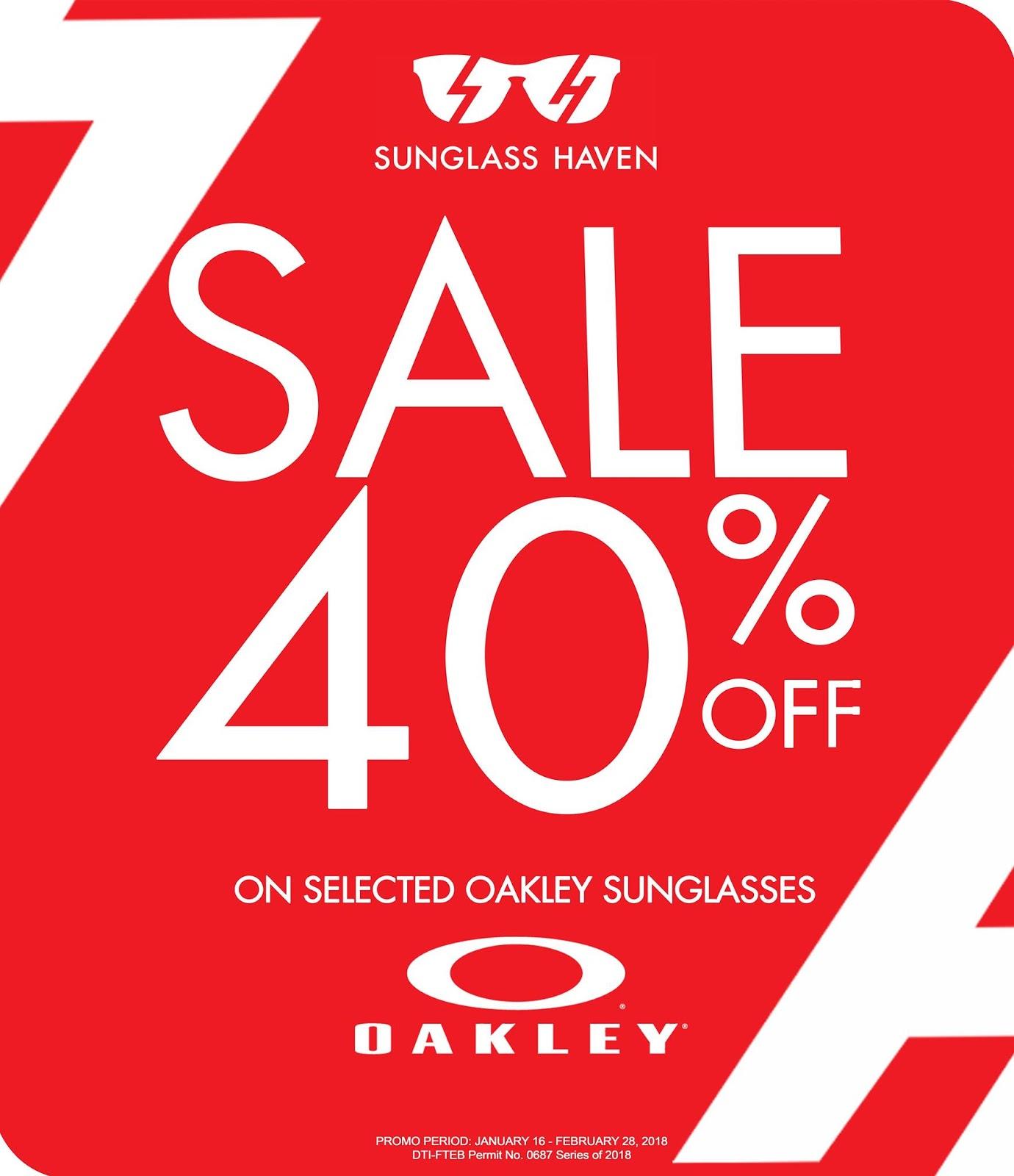 7b830517cd Manila Shopper  Oakley SALE at Sunglass Haven  Feb 2018