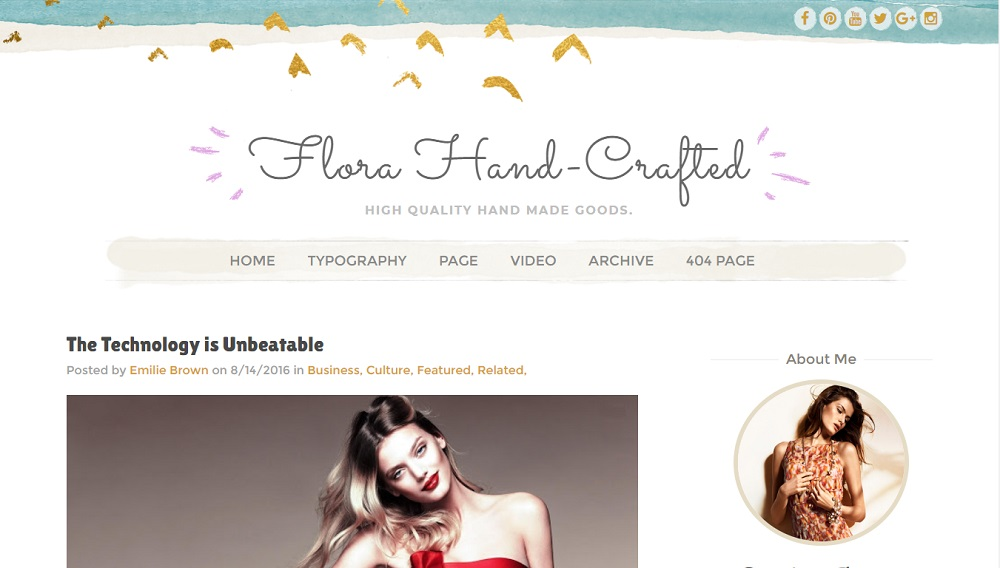 Flora Hand-Crafted v3.0 - Responsive Blogger Template