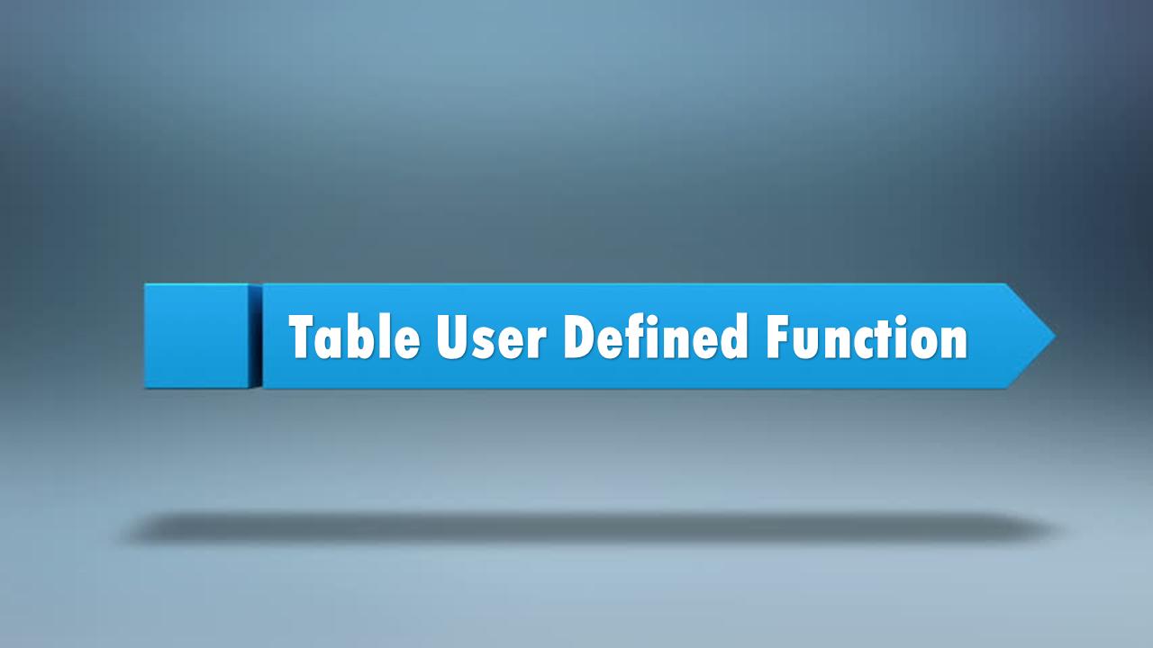 SAP HANA: Table User Defined Functions | HANA