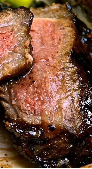 Garlic Balsamic Brown Sugar Steaks