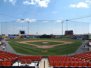 Home to center, Harry Grove Stadium