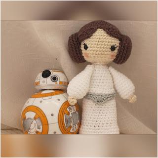 patron amigurumi Princesa Leia crochet y amigurumis
