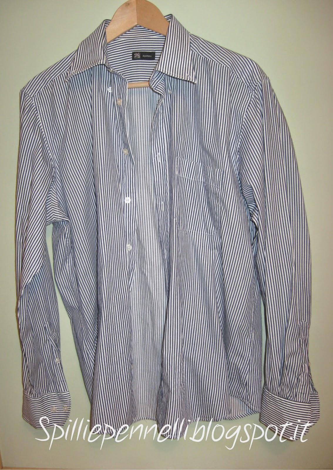 refashion della camicia da uomo