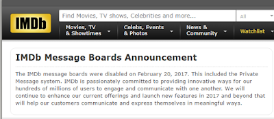 IMDB закрыла свой форум (discussion boards)