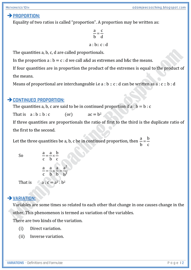 variations-definitions-and-formulae-mathematics-10th