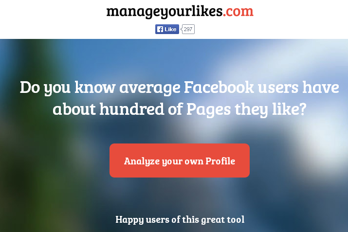ManageYourLikes.com -Manage your likes