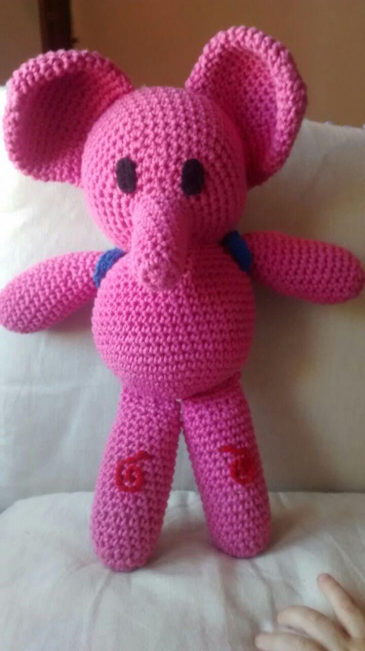 Aramela Artesanías: Eli la elefanta amigurumi (con patrón)