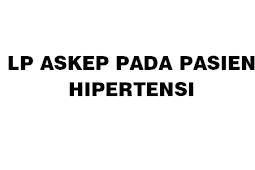 LP HIPERTENSI TERBARU